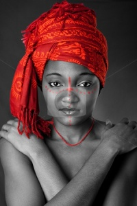 cutcaster-photo-100374963-Tribal-African-woman-with-headwrap
