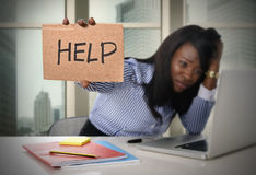 black-african-american-ethnicity-tired-frustrated-woman-working-stress-asking-help-as-secretary-work-business-55804241